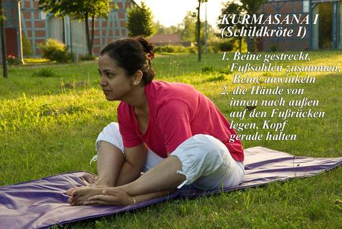Yogaübung Kurmasana