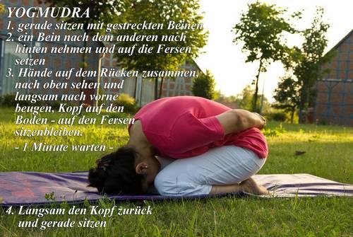 Yogaübung Yogmudra
