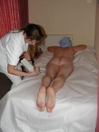 Körperpeeling und Körperpackung