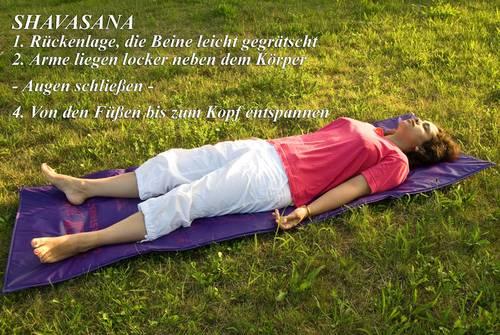 Yogaübung Shavasana