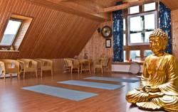 Yoga Raum im Wellnessdorf