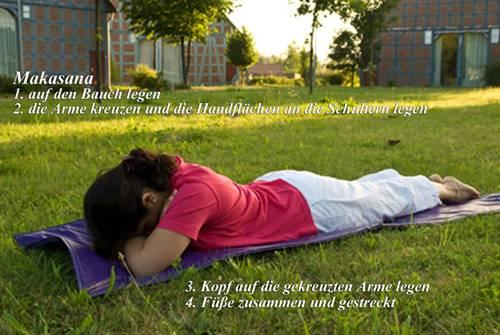 Yogaübungen Makasana
